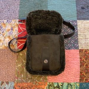 Handbags - Brown fuzzy wuzzy square bag